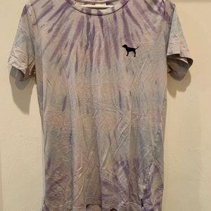 Tops - XS Pink Victoria Secret shirt tie dye